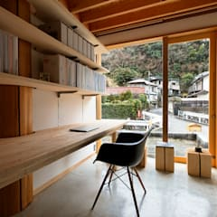 Study/office by 大松俊紀アトリエ, Minimalist Wood Wood effect
