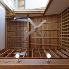 流山中庭を囲む家: 高野三上アーキテクツ一級建築設計事務所  TM Architectsが手掛けた壁です。,