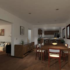 Casa Gama: Comedores de estilo  por Vibra Arquitectura,