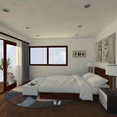 Casa Gama: Dormitorios de estilo  por Vibra Arquitectura