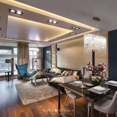 Apartament w Gdańsku: styl , w kategorii Salon zaprojektowany przez Arte Dizain. Agnieszka Hajdas-Obajtek