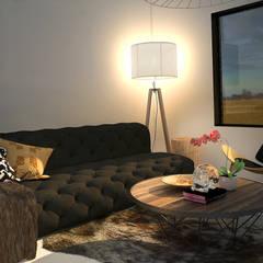 Casa Molina : Salas de estilo  por Rotoarquitectura, Escandinavo
