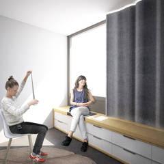 Centre de Yoga: Bureaux de style  par Belle Ville Atelier d'Architecture