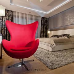Sypialnia z łazienką: styl , w kategorii Sypialnia zaprojektowany przez Arte Dizain. Agnieszka Hajdas-Obajtek