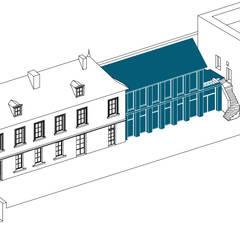 Maison R: Garage / Hangar de style  par Belle Ville Atelier d'Architecture