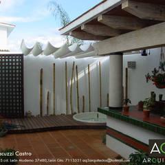 Asador Familia Castro: : Terrazas de estilo  por AQ3 Arquitectos