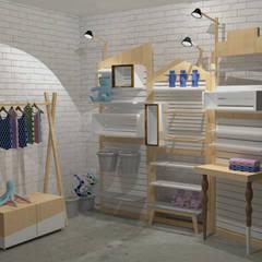 Stand para eventos: Espaços comerciais  por Infinitta - arte | design | arquitetura | interiores | vm,Escandinavo Madeira Efeito de madeira