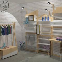 Stand para eventos: Espaços comerciais  por Infinitta - arte | design | arquitetura | interiores | vm,Escandinavo