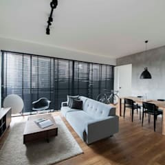 FORESQUE RESIDENCES:  Living room by Eightytwo Pte Ltd,Scandinavian