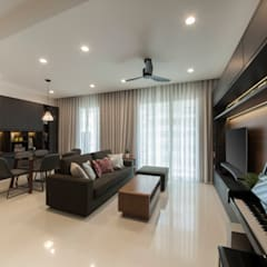 THE LIVIA: modern Living room by Eightytwo Pte Ltd