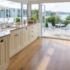 Bespoke Kitchen - sea to earth approach:  Kitchen by Winfreys of Helston