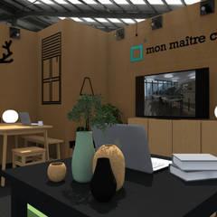 """Le Stand """"Mon Maitre Carré"""": Espaces commerciaux de style  par Sandia Design"""