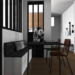 """Espace à vivre """"façon usine des années 70"""": Salle à manger de style de stile Rural par Sandia Design"""