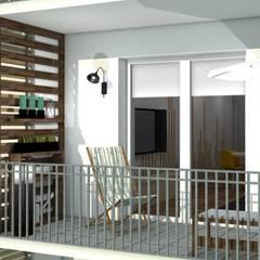 projekt wnętrza mieszkania dla audiofila - wizualizacja: styl , w kategorii Taras zaprojektowany przez easy project