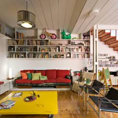 Ph con Parra: Livings de estilo  por Pop Arq