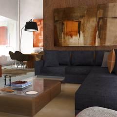 Atmosferas   Projecto de Interiores Paula Gouveia: Salas de estar  por  IDesign.art by Paula Gouveia