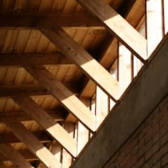 Wooden windows by ALIWEN arquitectura & construcción sustentable - Santiago