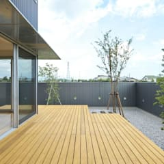 プライバシーが守られた庭: 有限会社 橋本設計室が手掛けた庭です。