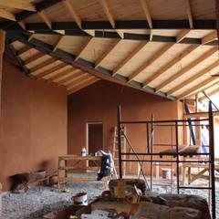 Ampliación y Remodelación de Casa Castillo Hepp en El Huape por ALIWEN: Livings de estilo  por ALIWEN arquitectura & construcción sustentable - Santiago, Rural