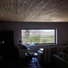 Construcción de Casa Vicuña en Mallaruco por ALIWEN: Livings de estilo  por ALIWEN arquitectura & construcción sustentable - Santiago, Rural