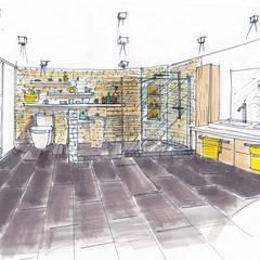 Notre proposition: Salle de bains de style  par Mon Intérieur Sur Mesure (MISM)