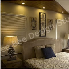 2 BHK Apartment in Kolkata: country Bedroom by Cee Bee Design Studio