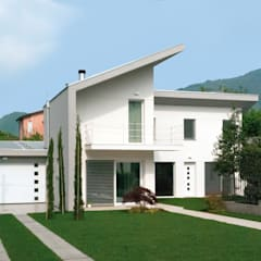 Wooden houses by Marlegno, Modern Wood Wood effect