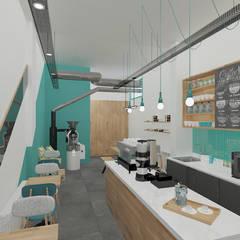Baki & Başaran İç Mimarlık – Kamarad Coffee Roastery // Konsept Tasarım + Projelendirme + Danışmanlık:  tarz Yeme & İçme