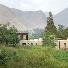 Casa Chontay: Jardines de estilo  por Marina Vella Arquitectura