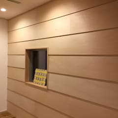 バルコニーへひろがる家: ライフビスタ一級建築士事務所が手掛けた壁です。