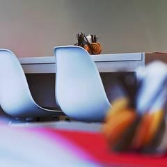 Wnętrze makaroniarni: styl , w kategorii Gastronomia zaprojektowany przez easy project