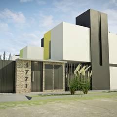 Desarrollo en Lino Limay, Neuquen Capital, Patagonia: Casas de estilo minimalista por Chazarreta-Tohus-Almendra