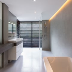 Verbouwing stadswoning:  Badkamer door B-TOO