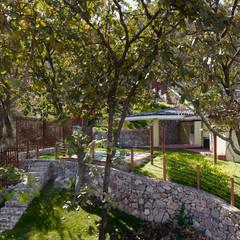 terraza jardin: Terrazas de estilo  por Excelencia en Diseño