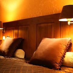 sypialnia/ dom jednorodzinny/ Starowa Góra: styl , w kategorii Sypialnia zaprojektowany przez Awer Design