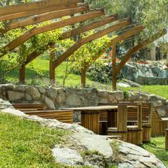 Banca Relax: Jardines de estilo  por Marina Vella Arquitectura