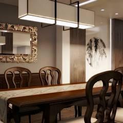 asian Dining room by Kuro Design Studio