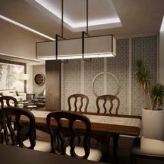 BESSIE: Comedores de estilo  por Kuro Design Studio,