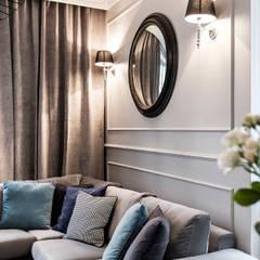 Mieszkanie w kamienicy: styl , w kategorii Salon zaprojektowany przez SAS