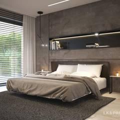Wohnzimmer, Küche, Schlafzimmer, Bad; Garderobe, Swimmingpool, Sauna - nicht nur die Aussicht ist fantastisch... :  Schlafzimmer von LK&Projekt GmbH