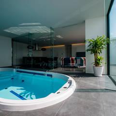 KKZ-house: 門一級建築士事務所が手掛けたプールです。