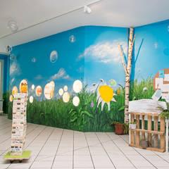 Wandmalerei - Ansicht Ausstellungswand:  Schulen von Graffiti und Wandmalerei | Frameless-studio UG