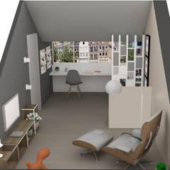C&L - :  Studeerkamer/kantoor door MEL design_,