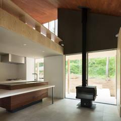 片流れの住宅 / SHED ROOF HOUSE: 富永大毅建築都市計画事務所が手掛けたキッチンです。