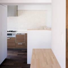 屋根型の住宅 / house of roof shape: 富永大毅建築都市計画事務所が手掛けたキッチンです。