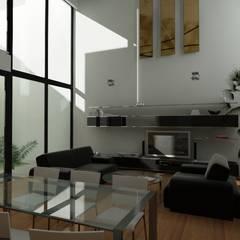 Salones de estilo  de JAPAZ arquitectura arte diseño