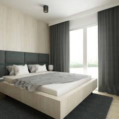 Mieszkanie 55m2: styl , w kategorii Sypialnia zaprojektowany przez MGN Pracownia Architektoniczna