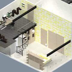 CASA TLX: Recámaras infantiles de estilo  por Molcajete Arquitectura Interiores Diseño