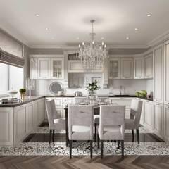 Квартира в стиле современной классики, ЖК «Дом с курантами», 86 кв.м.: Кухни в . Автор – Студия Павла Полынова