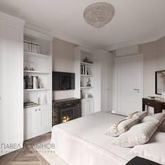 Квартира в стиле современной классики, ЖК «Дом с курантами», 86 кв.м.: Спальни в . Автор – Студия Павла Полынова